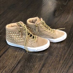 Kelsi Dagger suede studded sneakers with zips, 6